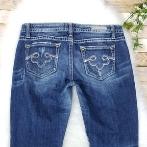 Rerock For Express Capri Jeans Distressed Dark 8